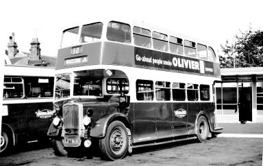 Maidstone and District DL8, a Bristol K6A with a Weymann 53 seat low bridge body